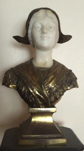 Marble and bronze bust