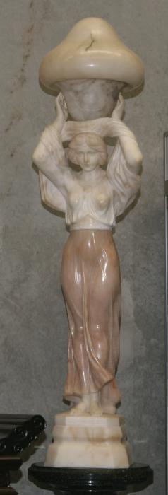 Marble Figurine Lamp