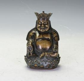 Vintage Chinese Bronze Gilt Figure