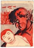 Kerbel, L.E. Propaganda poster draft.