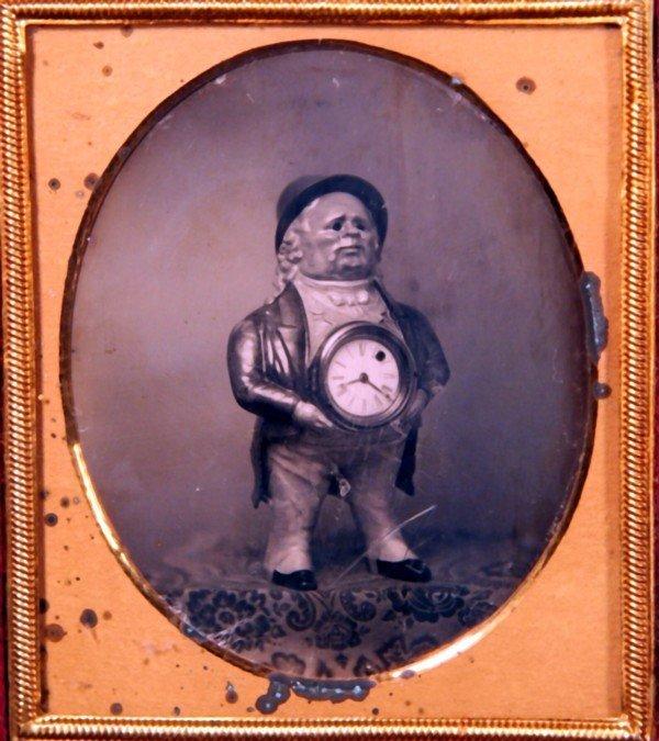 23: Rare & Unusual Daguerreotype of Clock Statue