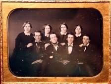 43: Four Women & Four Men Half Plate Daguerreotype