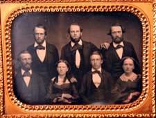 44: Five Men & Two Women Half Plate Daguerreotype
