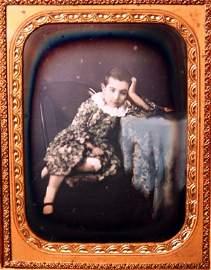 63: The Bored Boy 1/2 Plate Daguerreotype