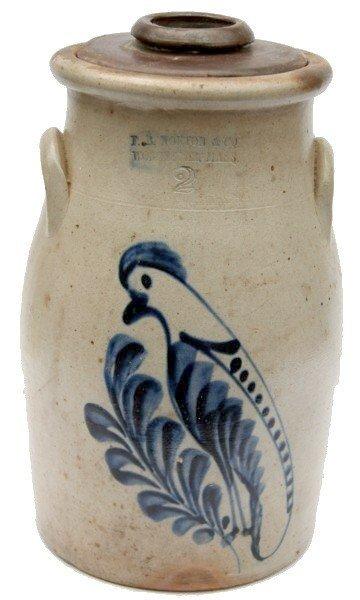 10: F.B. Norton & Co. Stoneware Churn Bird