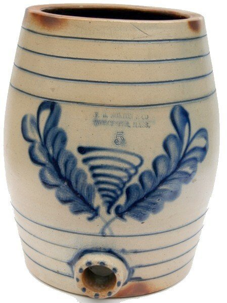 12: F.B. Norton & Co. Stoneware Water Keg