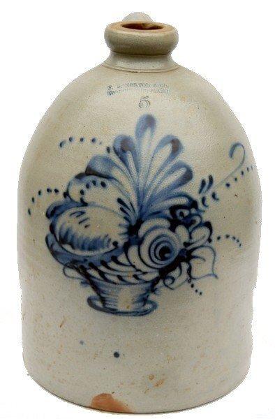 14: F.B. Norton & Co. Stoneware Jug Basket