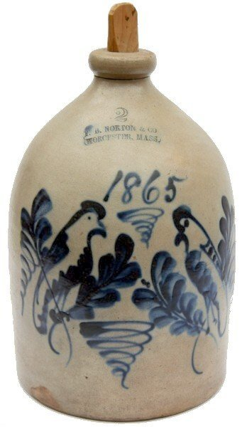 19: F.B. Norton & Co. Stoneware Jug Birds