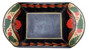 73: 19th C. Toleware Large Bread Tray