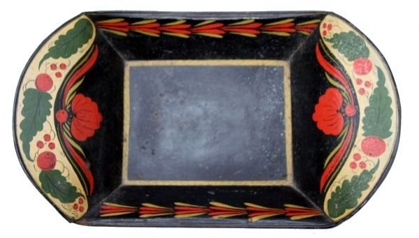 73: 19th C. Toleware Large Bread Tray