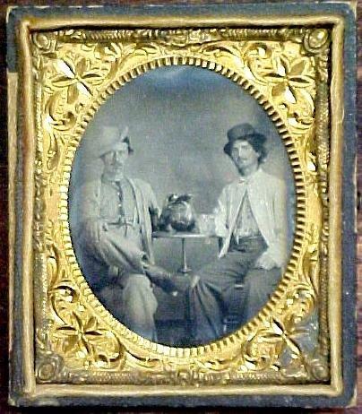3: Tintype of two rough men