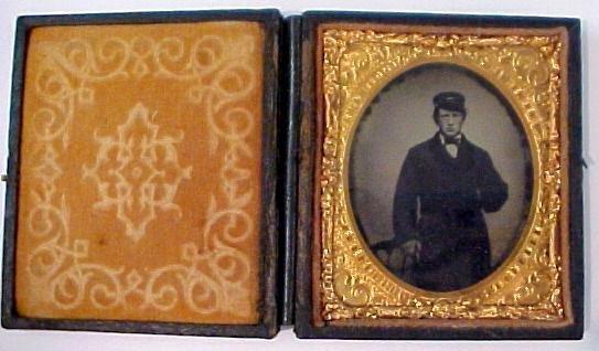 9: Tintype of man wearing hat