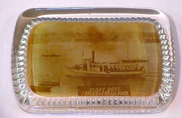 14: Marblehead Ferry boat paperweight