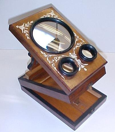 17: Stereoptic viewer with inlay