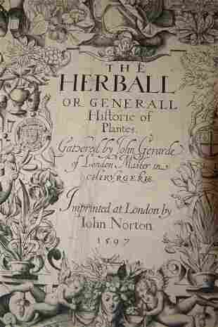The Herball by John Gerarde 1597