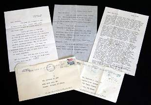 Group of Letters signed by J.D. Salinger
