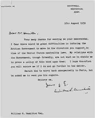 Important WWII Corresdences incl. Winson Churchill