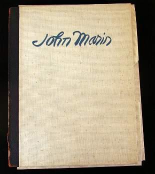 Rare John Marin Portfolio with Signed Etching