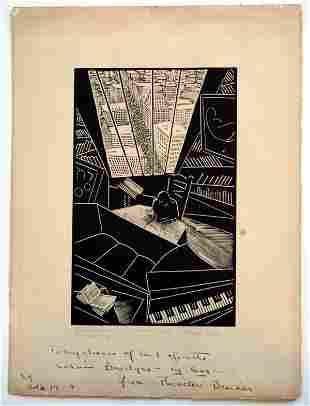 Wharton Esherick Of A Great City Woodblock Print