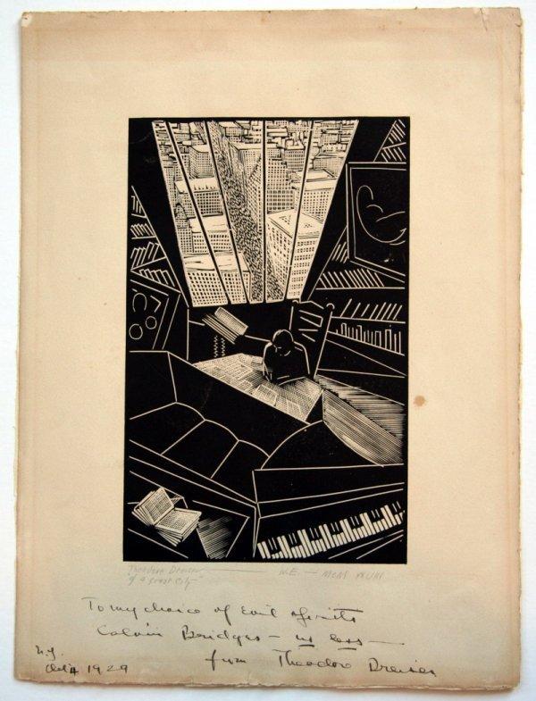 11: Wharton Esherick Of A Great City Woodblock Print