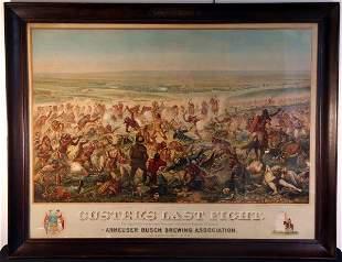 Original Custer's Last Fight 1896 Poster