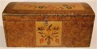 Early Miniature Pennsylvania Folk Art Domed Top Box