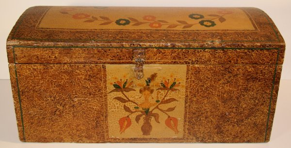 15: Early Miniature Pennsylvania Folk Art Domed Top Box
