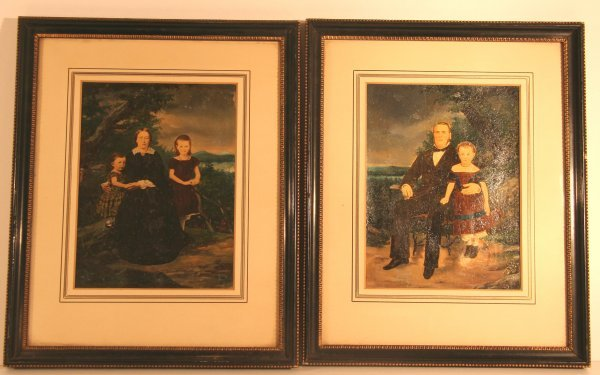 16A: Pair Early Family Portraits Dated 1859