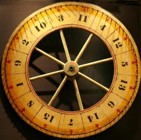 17: Folk Art Gaming Wheel