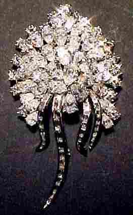 92 Diamond & Platinum Brooch