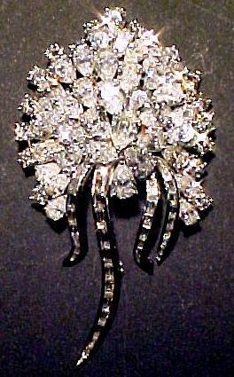 3: 92 Diamond & Platinum Brooch