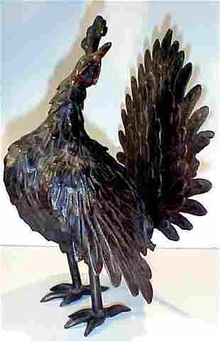 Bronze of a Peacock