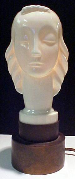 Rare Lenox Art Deco Lamp