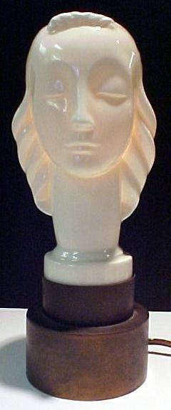 15: Rare Lenox Art Deco Lamp