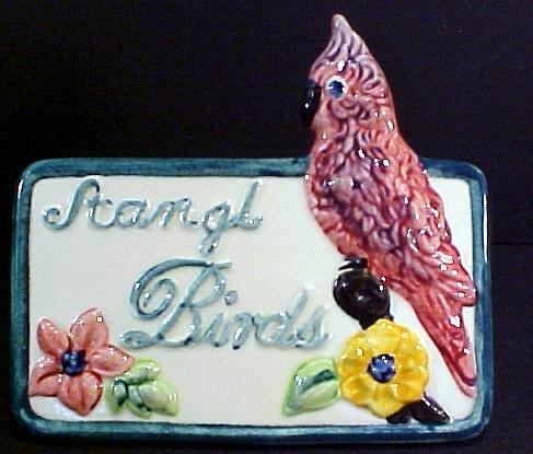 17: Rare Stangle Porcelain Bird Sign