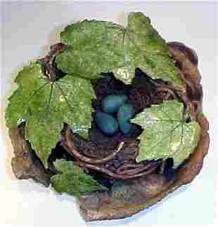 Unusual Ceramic Bird Nest