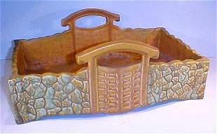 Large Carmark Pottery Basket Vase