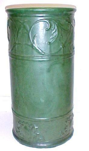 Weller Pottery Matte Green Umbrella Stand