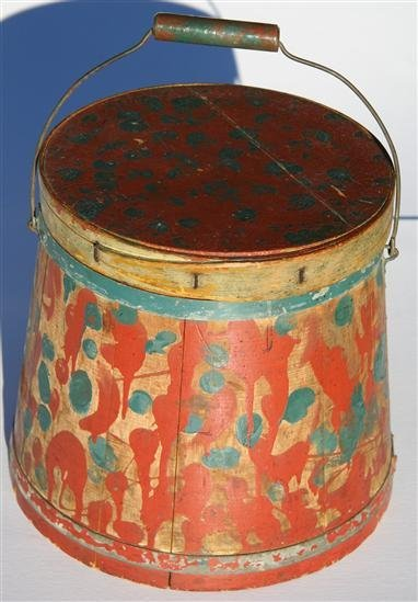 1: Antique Primitive Firkin Old Paint