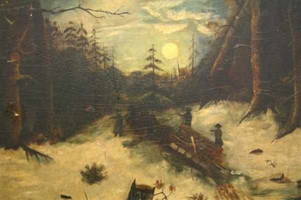 5: Folk Art Painting Snow Scene