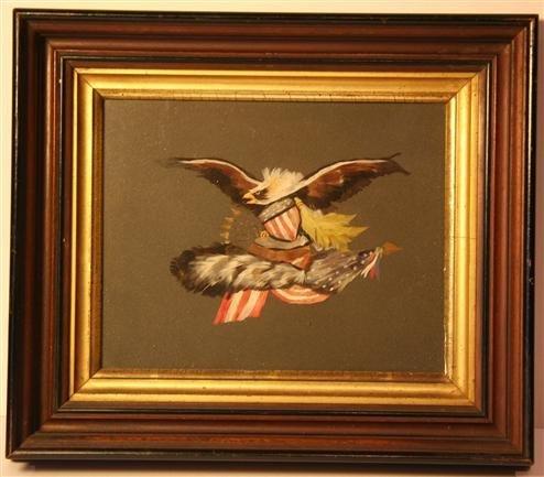 6: Antique Eagle Walnut Frame