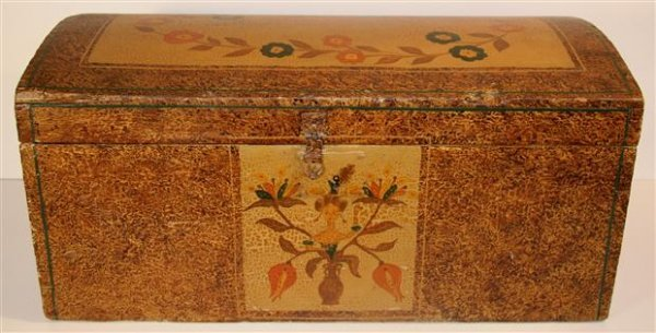 10: Folk Art Box with Tulips and Face