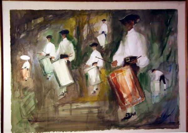 12: Robert J. Lee Watercolor