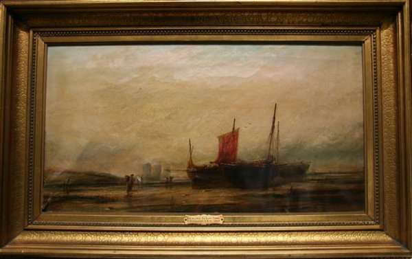 16: G.D. Callow (1858-1873) Sailboats Oil