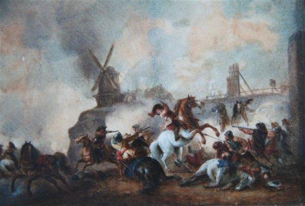 17: Early Battle Scene Painting on Bone