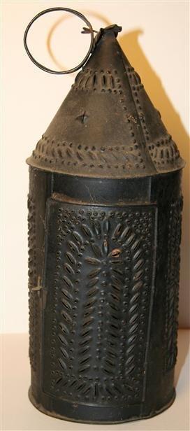 19: Early Tin Punch Lantern