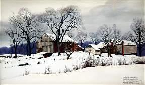 72: Loring W. Coleman (American, b.1918) Watercolor