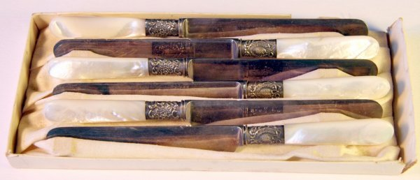 15: Six Holmes & Edwards Sterling Knives