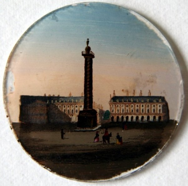 21: 18th Century Reverse Painted Miniature