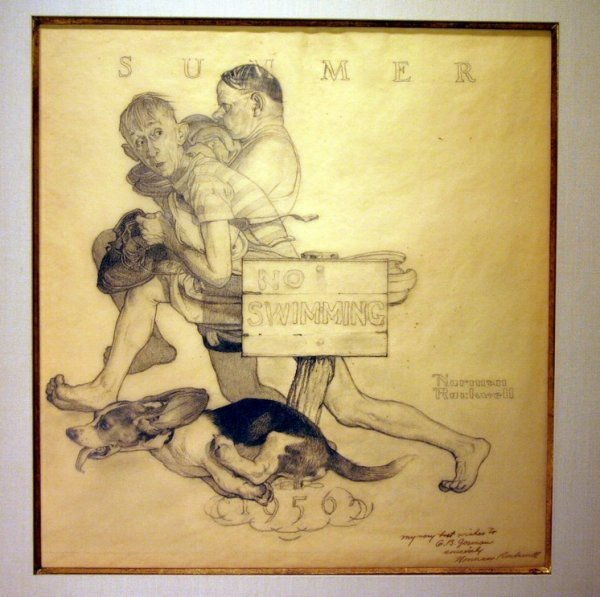 38: Norman Rockwell Original Drawing